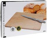 Broodsnijplank incl. broodmes_