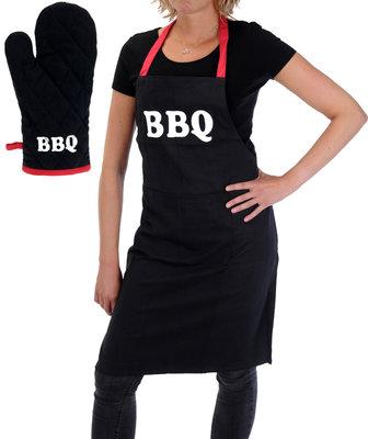 BBQ  Barbecue-schort met handschoen